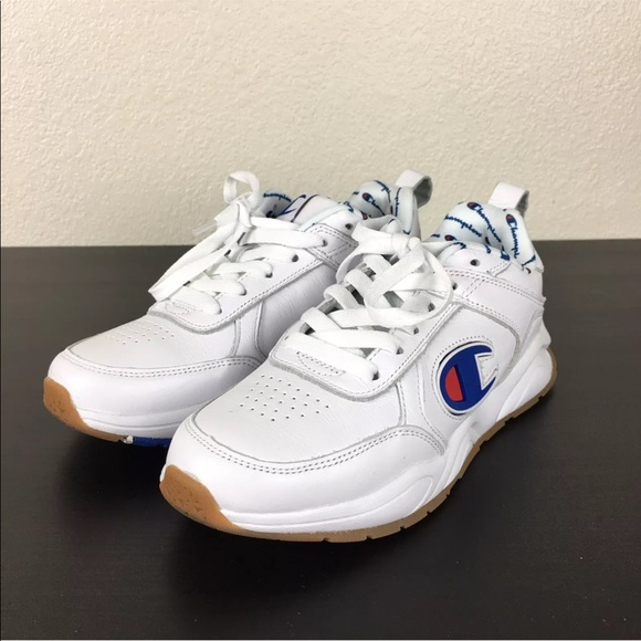 dabf9b41a9da4 CHAMPION 93 EIGHTEEN BIG C WHITE LEATHER SNEAKERS. Champion.  M 5bb997de2e1478b3e144d216. M 5bb997e0bb7615da1606b086.  M 5bb997e2035cf1e04db53519